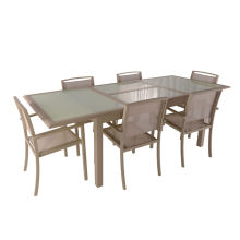 Factory best selling for Garden Table And Chairs 7pc aluminum extension dining set export to Poland Suppliers
