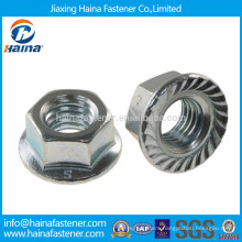 DIN6923 stainless steel serrated flange nut