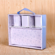 Customized rigid cardboard packaging box for baby clothes
