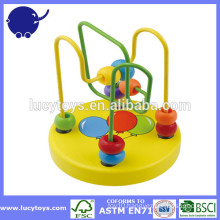 colorful beads wooden roller coaster toy