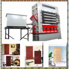 Machine de presse de porte à bois à cycle court de 4 couches