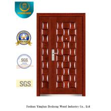 Porte de sécurité classique de style deux pour l'extérieur (b-3025)