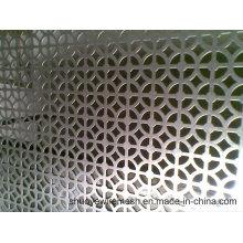 Folha de metal perfurada de aço galvanizada