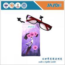Microfiber Double Drawstring Eyeglass Pouch