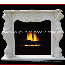 Hand Carved Marble Fireplace with Figures (SY-MF166)