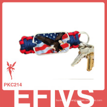 fashion mixcolor paracord keychain