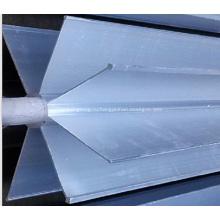 Окружающие детали испарителя: алюминиевые звездные экструдированные ребристые трубы