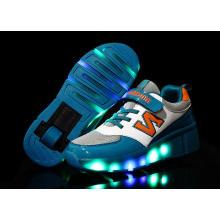 Niños Retractbale Flashing Roller Skate Zapatos