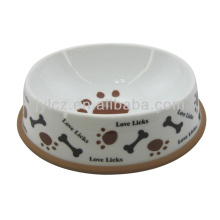 Bol de perro de cerámica blanco super