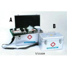 caja de primeros auxilios de aluminio vacío con 2 opciones de tamaño