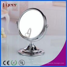 Fyeer atractivo espejo de maquillaje de aumento redondo doble cara para la belleza