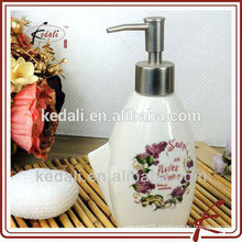 Hot Sell Mini Stoneware Ceramic Lotion Dispenser For Bathroom