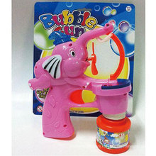Electric Music Outdoor Summer Toy Light Elephant Bubble Gun Toy