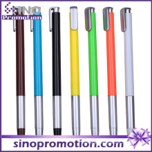 Colorful Plastic Ball Pen Metal Grip Ballpoint Pen with Clip