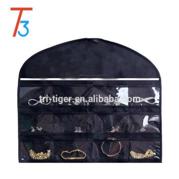 Popular Quality PU cosmetics bag case lace black cheap makeup bag