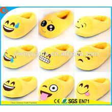 Горячая Распродажа Удобные Мода Emoji Выражение Лица Плюшевые Тапочки Обложка Пятки