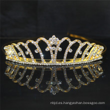 Coronas altas del desfile del Rhinestone de la boda del oro 2017 para la venta