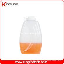 Jarra de agua plástica redonda 2L BPA libre con la tapa (KL-8015)