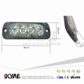 Ultra Thin 4-LED de advertencia Barras de luz estroboscópicas intermitentes de emergencia Montaje en superficie para camioneta Van Jeep 4x4 SUV ATV UTV