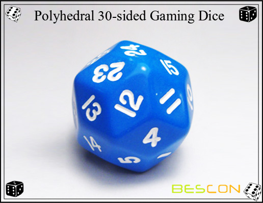 Polyhedral 30-sided Gaming Dice