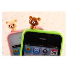 Mini prise anti-poussière de la figure d'action de PVC pour des accessoires de téléphone portable de téléphone