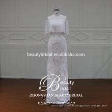 XF16095 le plus récent design Off épaule robe de mariée design avec robe de mariée en mousseline de soie de luxe pour femmes