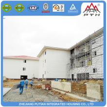 Casas prefabricadas modulares baratas al por mayor del hotel de la estructura del acero al por mayor del precio de fábrica para la venta