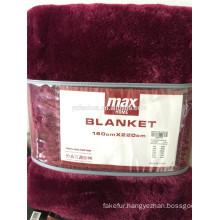 High quality Coral Fleece Travel Blanket ,luxury polyester beding blanket