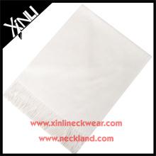 2015 nouveau produit personnalisé hommes mode blanc foulard en soie
