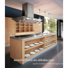Modern Italian Design Wood Veneer kitchen cabinet
