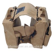 Paquete de perro de lona Hound Tactical Dog Travel Camping Senderismo Mochila Bolsa de sillín Paquete de perro