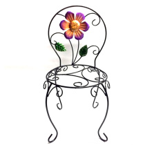 Hot Selling Garden Decoration Metal Chair Flowerpot Stand