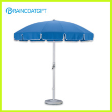 Parasol exterior azul do pólo de alumínio