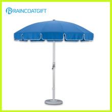 Parasol al aire libre azul de aluminio del poste