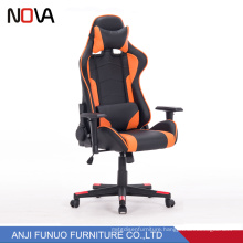 New design ergonomic computer gaming racer chair with neck support