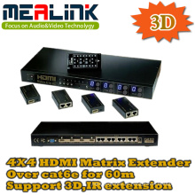 4 a 4 HDMI Matrix Extender Over Cat6e por 60m