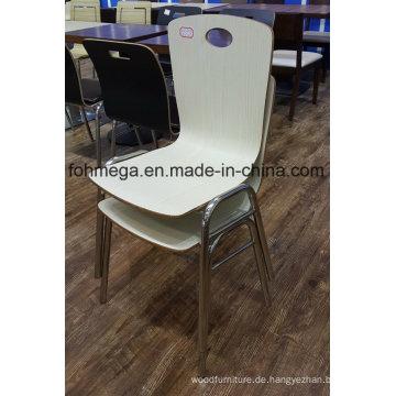 Benutzerdefinierte machen stapelbare Food Court Esszimmerstühle (FOH-SBC02)