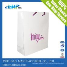 Zhejiang fabricant mode bon marché emballage Kraft sac en papier