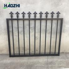 panneau de clôture en aluminium décoratif perforé usine de clôture en métal