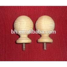 Занавески деревянные стержни, натуральный деревянный стержень, резьбовой деревянный стержень