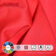 100% coton ignifuge tissu pour vêtements