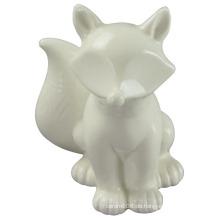 Animal Shapedceramic Craft, Standing The Dog mit weißer Glasur