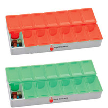 Promotional 7 Days Rectangular Logo Pill Containers