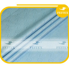 Tejido de tela africana azul cielo tela 100% algodón brocado guinea