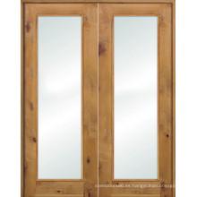 Puertas de madera de pino extrano francés de madera de pino