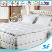Soft White Goose Down Filled Mattress Pad/Mattress Topper