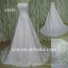 JJ2633 Latest Most Stunning new real arrival high quality crystal stones stylerystal embellished wedding dress