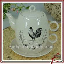 Decal Tea Pot For One&Chicken