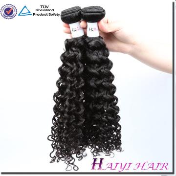 Trama malásia da máquina do cabelo do Virgin do vison do cabelo nenhuma cor natural química Kinky encaracolado