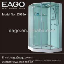 Cabine de chuveiro, com 3 opções para a bandeja do chuveiro
